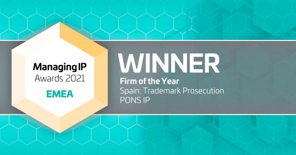 PONS IP, mejor firma española de marcas en 2020