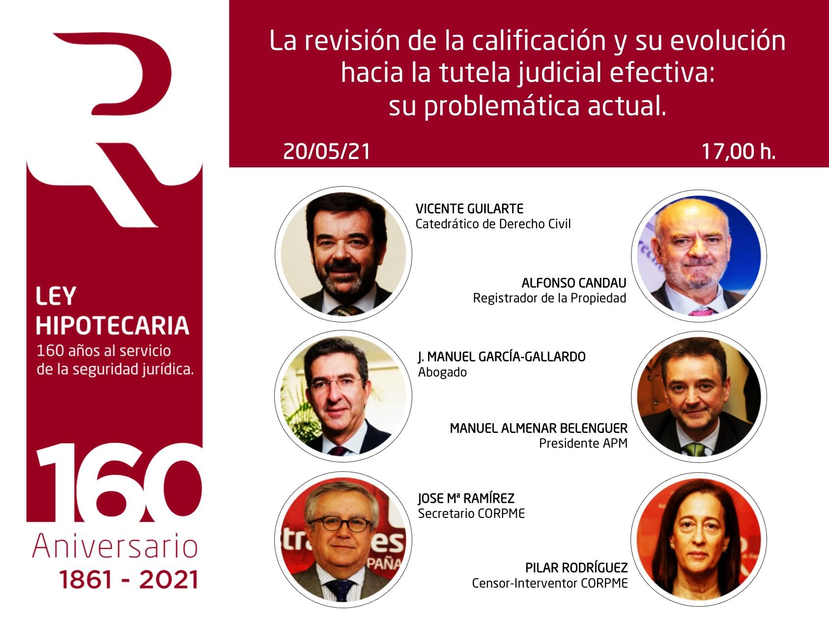 Webinar «La revisión de la calificación y su evolución hacia la tutela judicial efectiva: Su problemática actual»