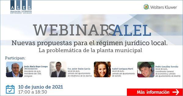 Webinar ALEL: Nuevas propuestas para el régimen jurídico local