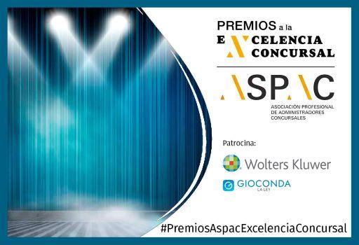 Entrega de los Premios ASPAC a la Excelencia Concursal