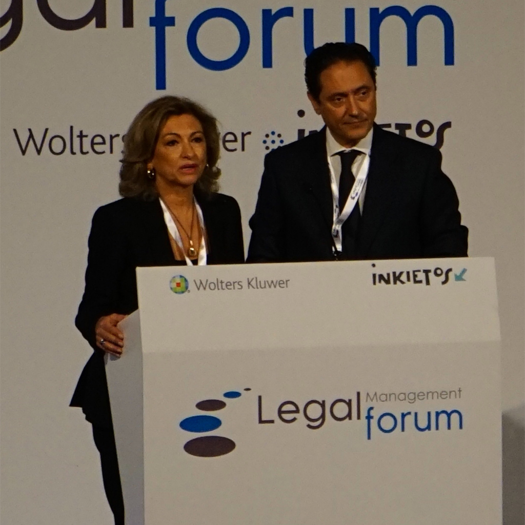 Legal Management Forum 2015, Rosalina Díaz Valcárcel, Emilio Martínez Poyatos