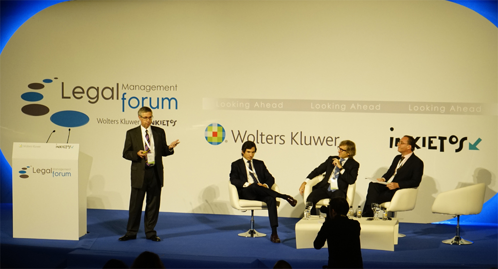 Legal Management Forum 2015, Kenneth Grady, Ignacio Gómez Garzón, Emiliano Garayar, Moray McLaren