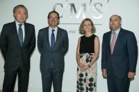 De izquierda a derecha: César Albiñana, socio director de CMS; Miguel Temboury, Subsecretario del Ministerio de Economía y Competitividad; María Guinot y Carlos Peña, socios de CMS