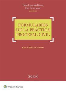 Extenso inventario de formularios procesales civiles, de especial interés para abogados y procuradores en el ejercicio de su profesión.